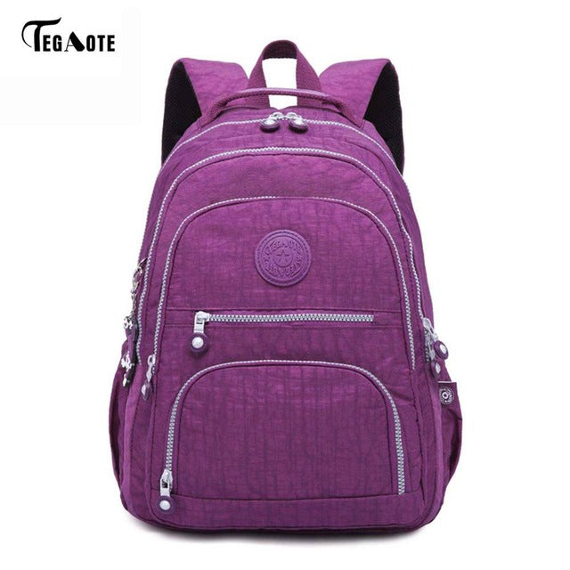 TEGAOTE School Backpack for Teenage Girl Mochila Feminina Women Backpacks Nylon Waterproof Casual Laptop Bagpack Female Sac A Do