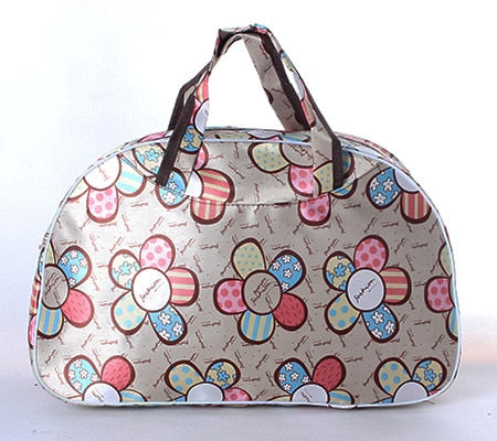41cm*28cm*16cm Cheap Large Capacity Women Travel Bag Tote Men Luggage Duffle Bag New Flower Print Female HandBag PT1280