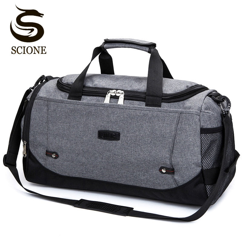 Scione Nylon Travel Bag Large Capacity Men Hand Luggage Travel Duffle Bags Nylon Weekend Bags Women Multifunctional Travel Bags