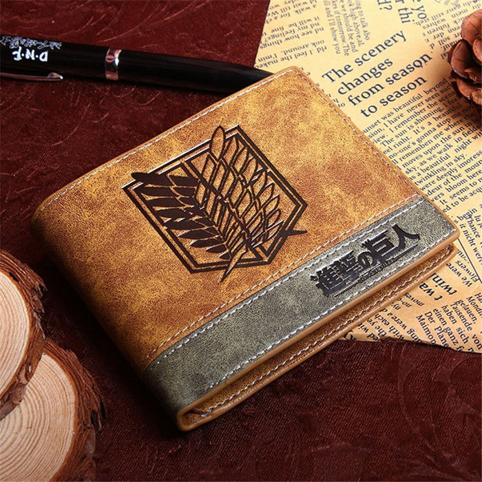 Woman/Man Wallet new Fashion Cartoon Anime Student Purse Chopper/Totoro/Naruto/Conan Edgar/Attack on Titan Cool brown Billfold
