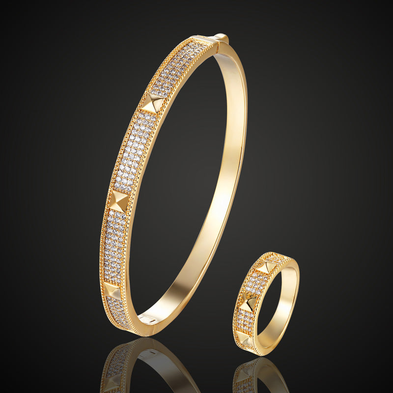 New Europe Design Cubic zircon bangles For Women Gifts Brand Bridal Accessory Fashion love Chain bangles couple bijoux