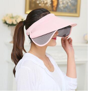 2017 New Retractable Visor Female Summer Sun Empty Top Hat Solid Unisex Sombrero Cap UV Sun Hat Woman Beach Hat Headwear