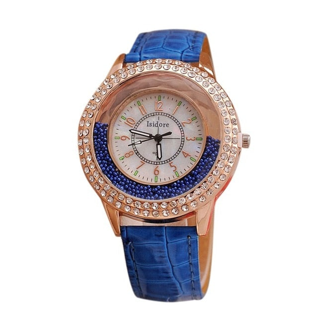 Runer Women Rhinestone Watch luxury Leather brand women's Watches  Hot fashion Women Dress Watch Relogio Feminino free shipping