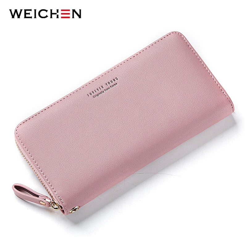 WEICHEN Wristband Women Long Clutch Wallet Large Capacity Wallets Female Purse Lady Purses Phone Pocket Card Holder Carteras