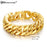 High Quality Stainless Steel Gold Curb Cuban Chain Link Thick Bracelets Trendsetter Jewelry Rapper Men Women Accessories Bangle
