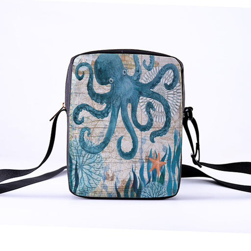 CROWDALE Women Crossbody Bags Marine life Printing for Kids Girls Casual Mini Female Children Messenger Bags Bolsos Mujer