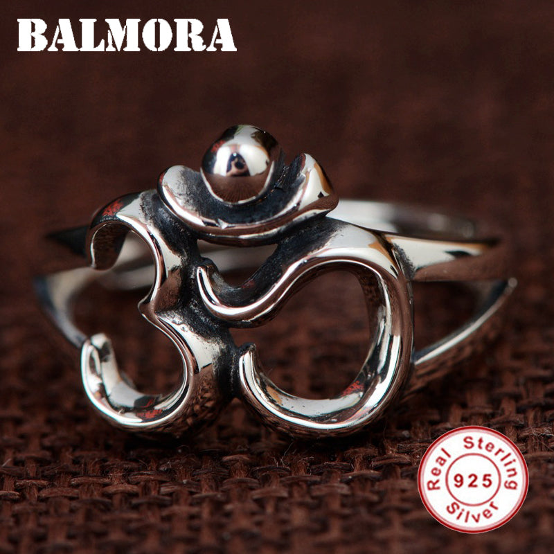 BALMORA 925 Sterling Silver Resizable Rings for Women Men Lovers Sterling Silver Simple Fashion Jewelry Gift Anillos SY22083