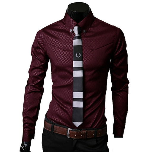 Men Plaid Shirts Brand 5XL 2018 New Mens Dress Shirts Long Sleeve Slim Casual Black White Social Male Clothes Chemise Homme 25