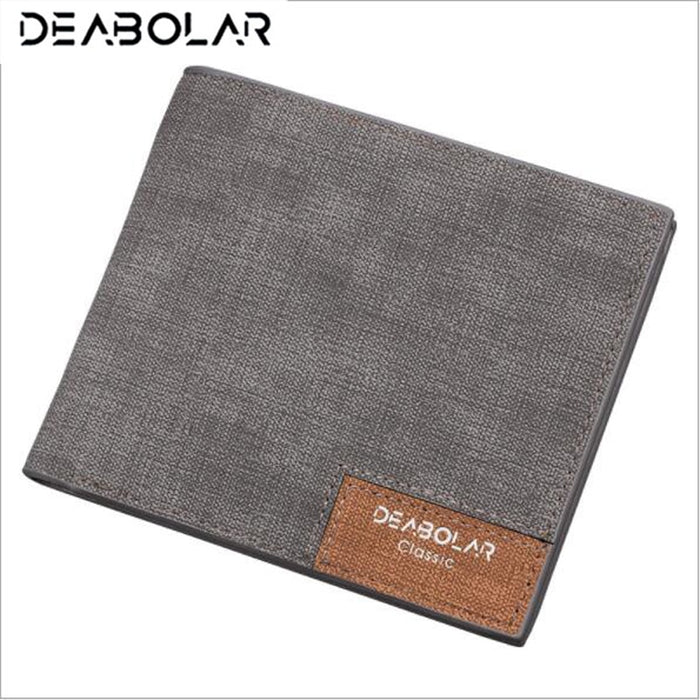 DEABOLAR Brand Wallet Purses Slim Men's Wallets Carteira Masculine Billeteras Porte Monnaie Monedero  Male Men Thin Wallets