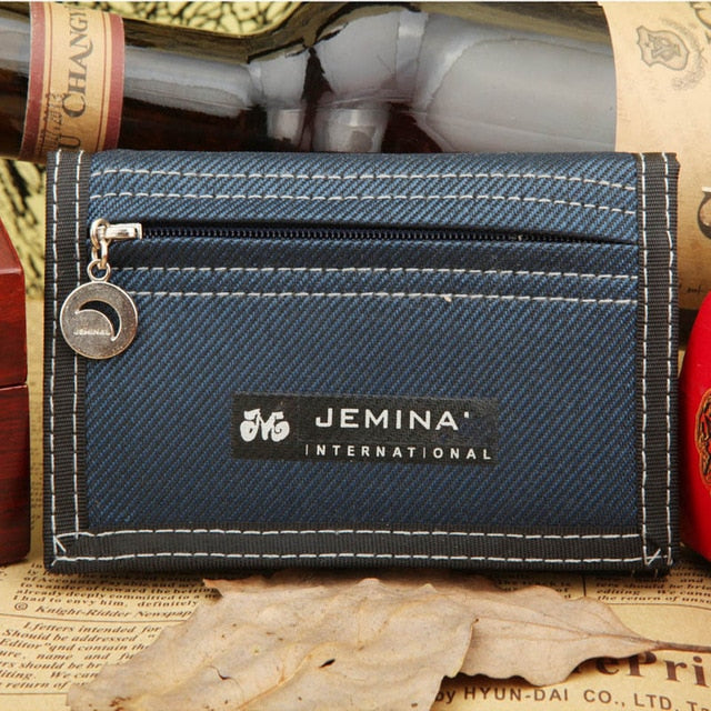 New Arrival Causal Style Men's Canvas Wallet Short Designer Men Wallets Zipper Coin Male Purse Card Holder For Teenager Men