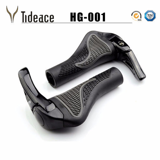 1 pair MTB Mountain/road Bike Bicycle lock-on alloy Rubber Handlebar Cover Handle grip Bar End bicycle grips for bicycle parts