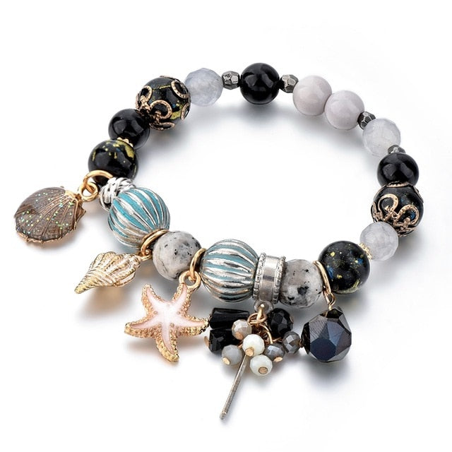 TOUCHEART Starfish & Seashell & Conch in the ocean Bracelet & Bangles Charms For Women Luxury Brand Jewelry Bracelets SBR180080