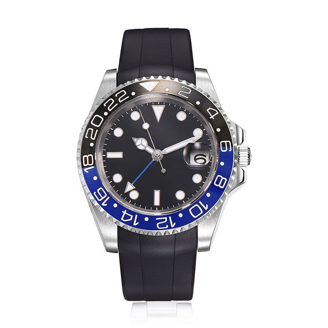 Parnis 40mm Mechanical Watches GMT Sapphire Crystal Man Watch 2018 Diver Watch Automatic relogio masculino Role Luxury Watch Men