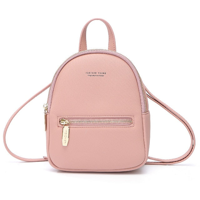 WEICHEN New Designer Fashion Women Backpack Mini Soft Touch Multi-Function Small Backpack Female Ladies Shoulder Bag Girl Purse