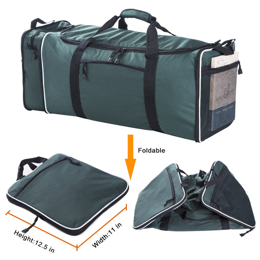 FLYONE Large Travel Duffel Bag 11x12.5x25 inch with 57L Capacity Polyester Travel Duffle Bags Foldable Bag Single Shoulder Strap