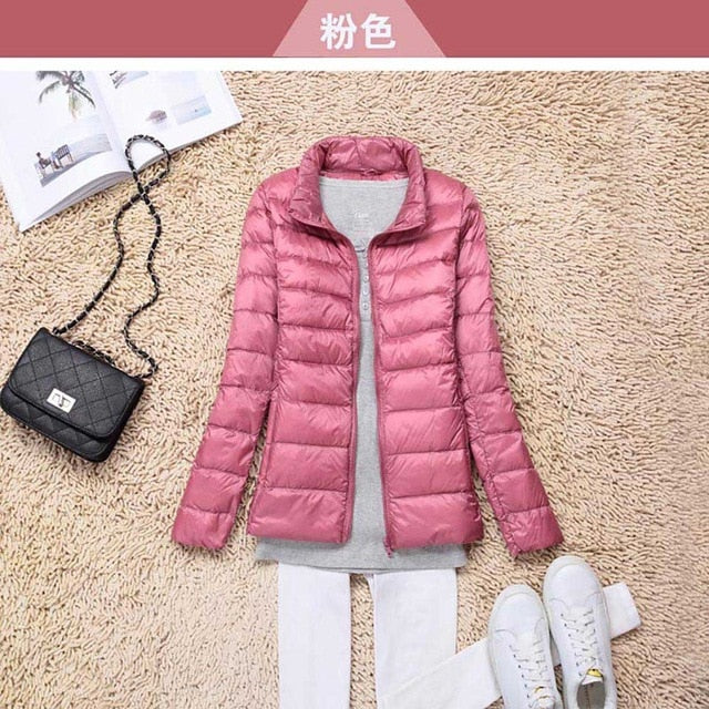Plus Size 5XL 6XL Brand 90% White Duck Down Ultra Light Jackets Women Autumn Winter Down Jacket Coat Female Zip Pocket Parkas