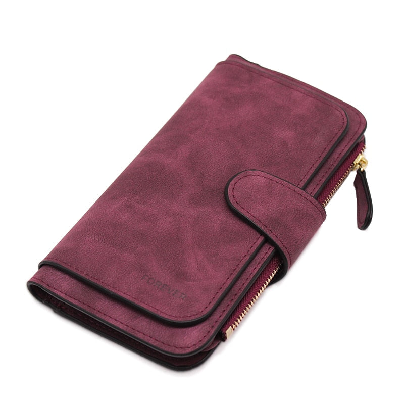 Brand Leather Women Wallets High Quality Designer Zipper Long Wallet Women Card Holder Ladies Purse Money Bag Carteira Feminina
