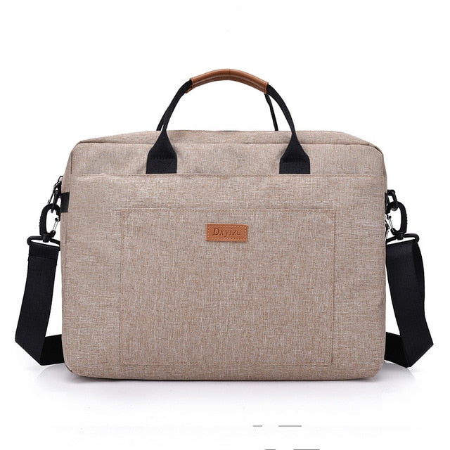 Men Canvas Business Briefcase Office Travel Messenger Large Tote Women's Computer Work Bag Business Trip File Package Laptop Bag