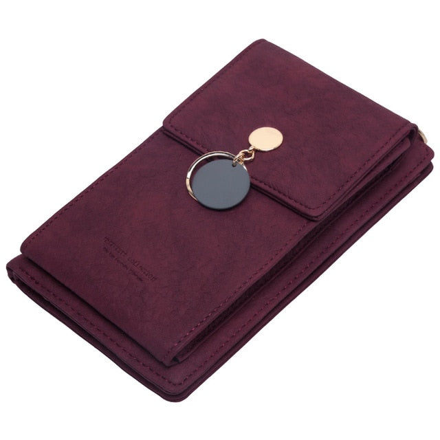 Latest Women Leather Shoulder Wallet Phone bag Case Female Multifunction Coin Change Passport Purse Card Holder Clutch For Girls