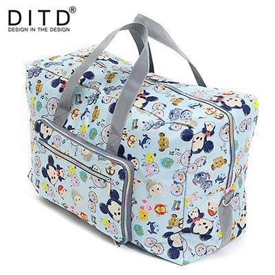 DITD 27 color Cartoon Elephant Foldable Travel Bag Large Capacity Waterproof Dog Printing Bags Portable Women's Tote camping bag