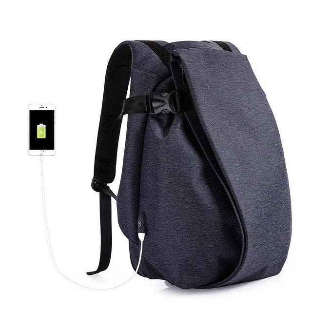 "Tangcool Fashion Men Backpack for Laptop 17.3""USB Port Waterproof Travel Backpack Large Capacity College Student School Backpack"