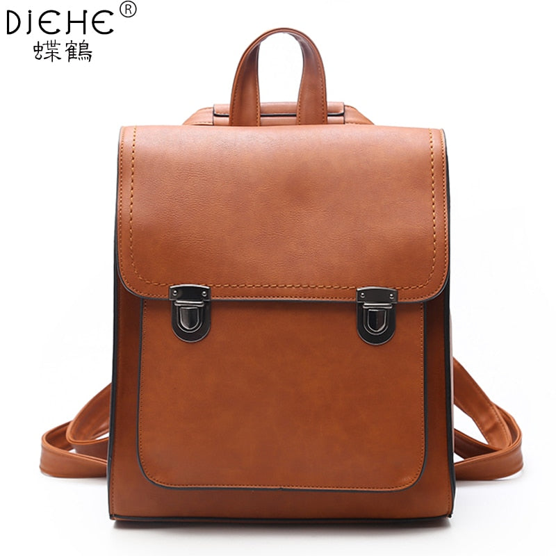 Fashion Women Backpack Women's PU Leather Backpacks Girl School Bag backpack High Quality vintage shoulder Bags Travel Bolsa new