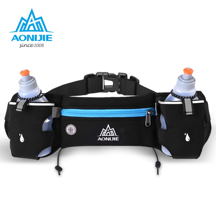 AONIJIE E834 Marathon Jogging Cycling Running Hydration Belt Waist Bag Pouch Fanny Pack Phone Holder For 250ml Water Bottles