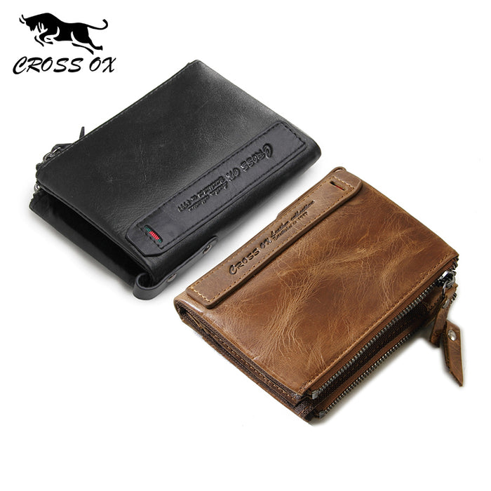 CROSS OX 2018 Men's Wallet Genuine Cowhide Leather Wallets For Men Card Holder Business Fashion WL106M