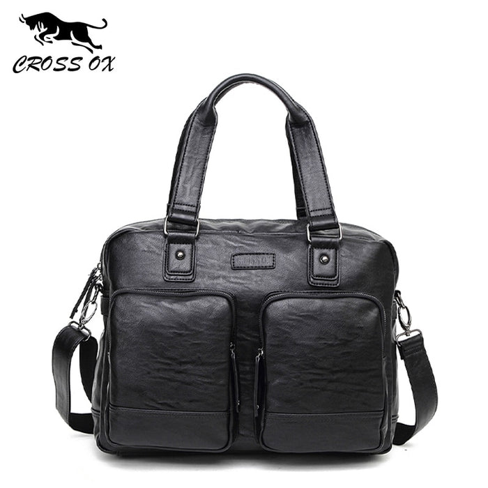 CROSS OX 2018 Men Business Handbags Design Men's Briefcase Satchel Bags Fashion Messenger Bag 14' Laptop Shoulder Bag HB559M