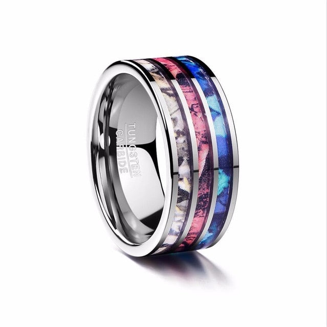 8mm Men Ring 100% Tungsten Carbide Multi-faceted Men's Jewelry Promise Band Anillos para hombres Boyfriend Pierscienie
