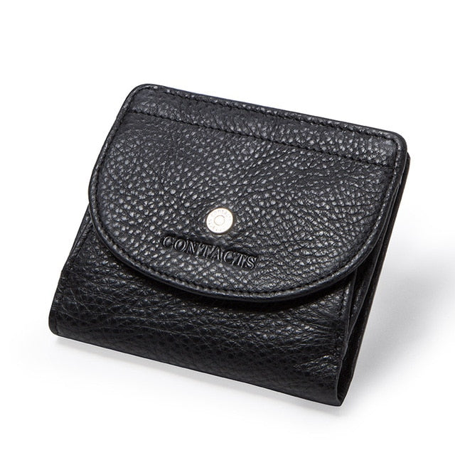 Genuine Leather Women Wallet Fashion Coin Purse For Girls Female Small Portomonee Lady Perse Money Bag Card Holder Mini Clutch