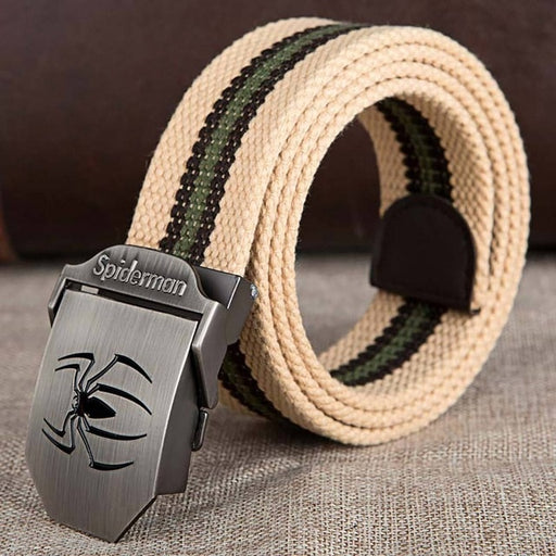 Military Belt Outdoor Tactical Belt Men&Women High Quality Canvas Belts For Jeans Male Luxury Casual Straps Ceintures Spiderman