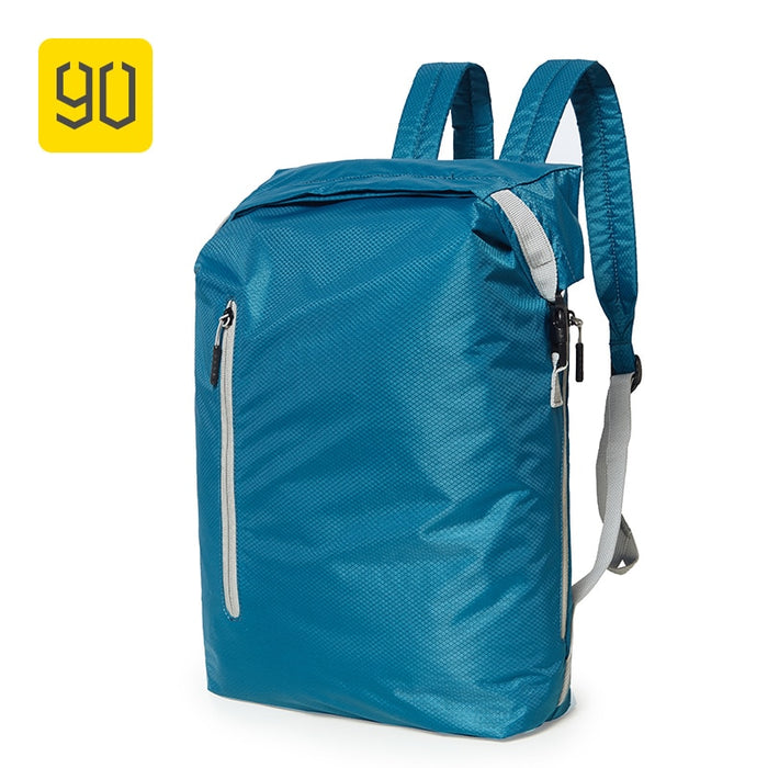 Xiaomi 90FUN Lightweight Backpack Foldable Bags Sports Travel Water Resistant Casual Daypack for Women Men 20L Blue/Black