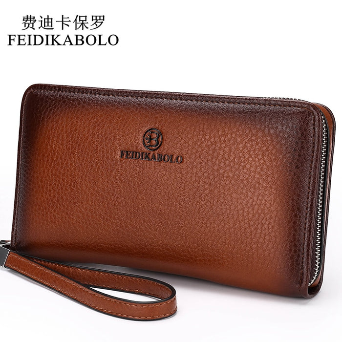 2019 Luxury Male Leather Purse Men's Clutch Wallets Handy Bags Business Carteras Mujer Wallets Men Black Brown Dollar Price