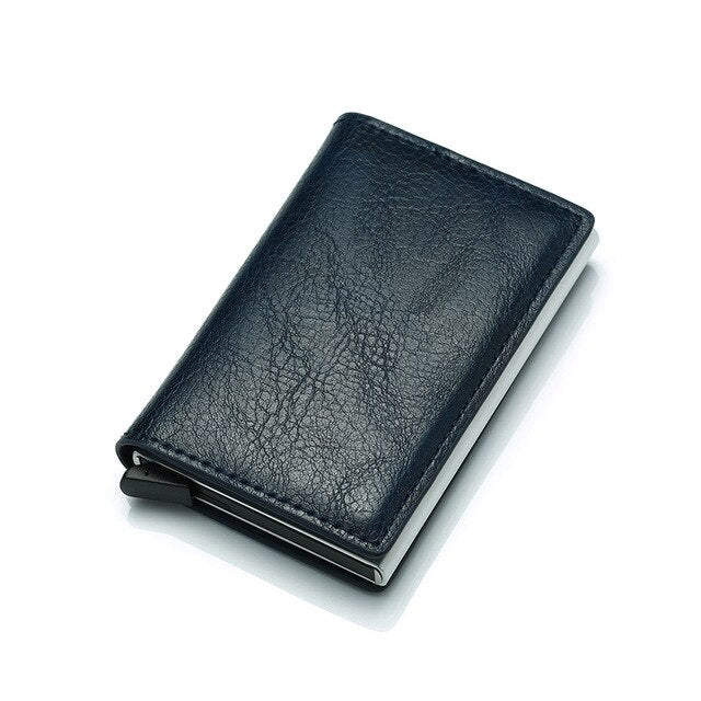 Wallet Men Money Bag Slim Mini Purse Male Aluminium Rfid Card Holder Wallet Thin Small Smart Wallet Walet portfel
