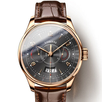 Switzerland LOBINNI Men Watches Luxury Brand Watch Men Sapphire Waterproof Miyota Automatic Mechanical Wristwatches L16013-2