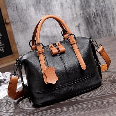 Natural cowhide women handbag genuine leather bags ladies big shoulder handbags fashion women messenger bags casual tote sac
