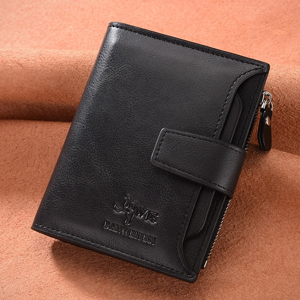 DWTS brand Wallet men leather men wallets purse short male clutch leather wallet mens money bag quality guarantee