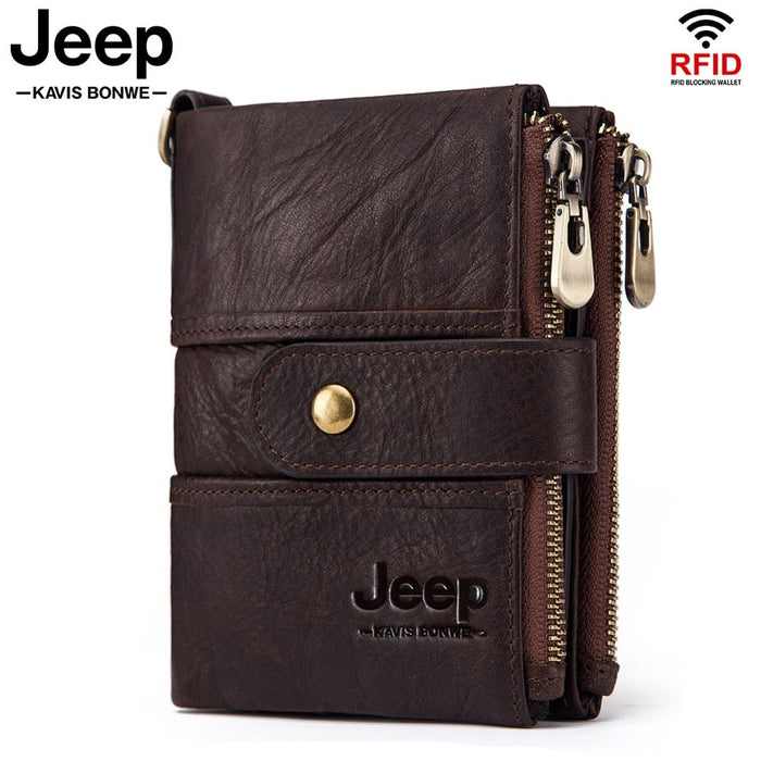 2019 100% Genuine Leather Rfid Wallet Men Crazy Horse Wallets Coin Purse Short Male Money Bag Mini Walet High Quality Boys