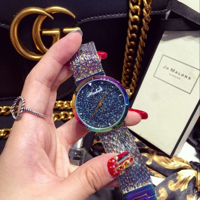 2019 New Arrival Women Watch!Luxury  Fashion Crystal Women Bracelet Watch Female Dress Watch Ladies Rhinestone Wristwatches