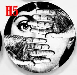 Fornasetti Plates Black&white Illustration Hanging Dishes Sample Room Home Hotel Decor Cavalieri Face Ceramic Crafts Wall Decor