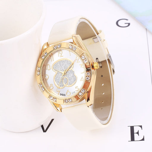 Relogio feminino 2019 New Women Watches Fashion Brand Bear Watch Women Casual Leather Belt Quartz Wristwatch reloj mujer