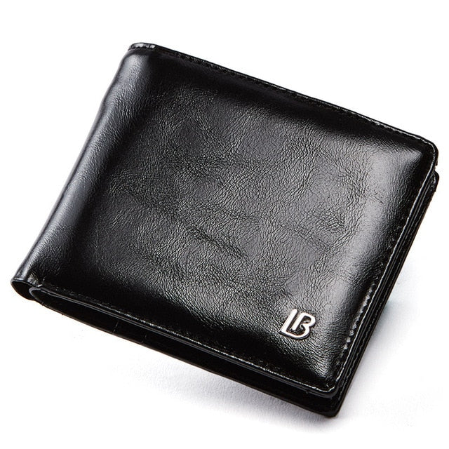 Bostanten Men Genuine leather Wallet Short Wallets Bifold Business Wallet With Box Mens Brand Leather Wallet Purses Pockets