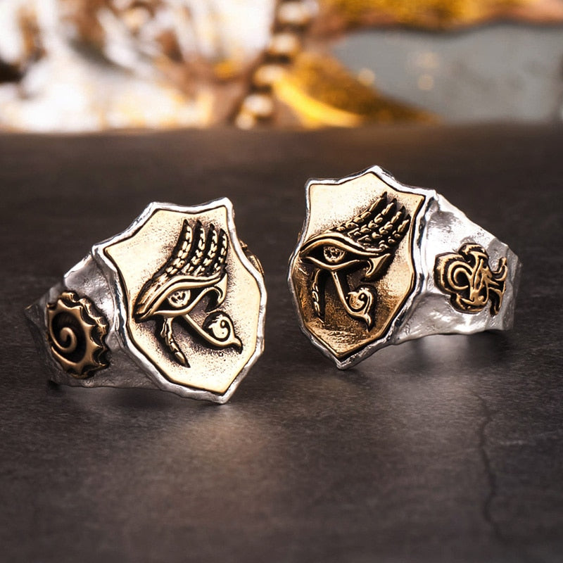 The Eye of Horus rings  for man and women S925 silver Index Ring fashion jewelry  hippop street culture mygrillz
