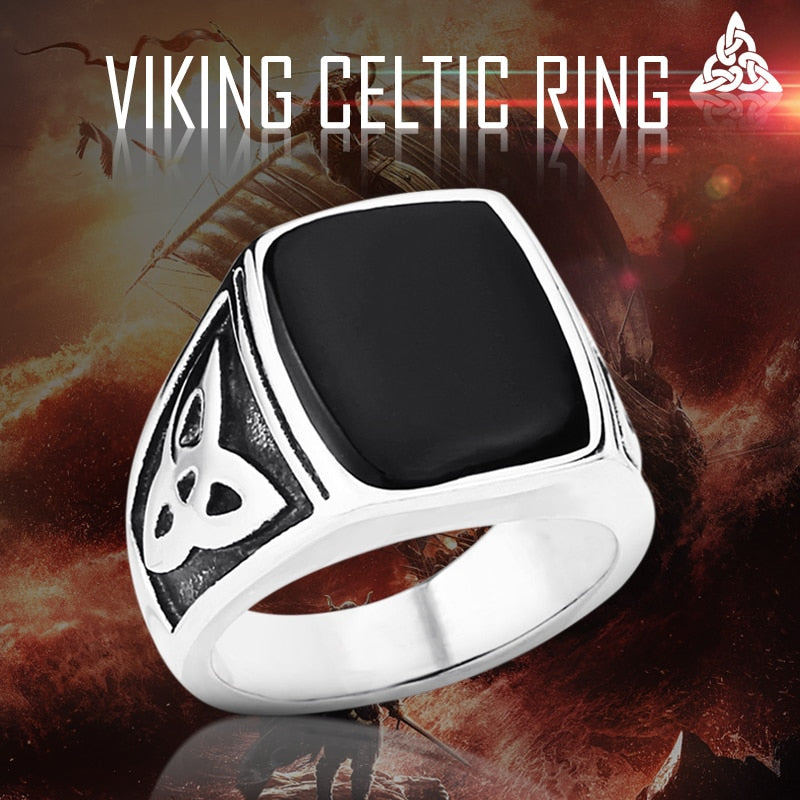 Beier 316L Stainless Steel Nordic Vikings Celt ic Knot black colour High Quality fashion wholesale ring jewelry LR037