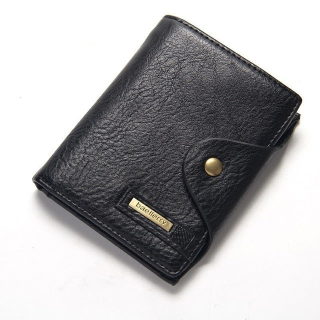 Vintage Cowhide Men Wallet Genuine Leather Clutch Wallet Male Coin Purse Passport Cover Pouch Business Document Case Card Holder