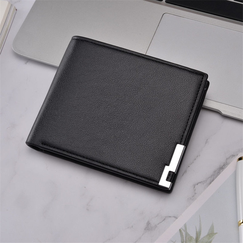 Top 2019 ultra-thin Short Sequined Men Wallets with Coin Bag Roomy Purse Man Wallet Male Small Money Dollar Slim Card Case W295