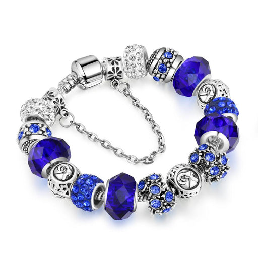 TH  Maya Myths Fashion Silver Charms Crystal Bracelet for Women Femme Pendant Brand Bracelet & Bangles Women Jewelry