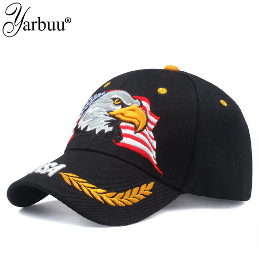 [YARBUU]High Quality USA Flag Baseball Cap Men Women Eagle Snapback Dad Hat Bone Outdoor Casual Sun Golf Hat Trucker Cap Gorras