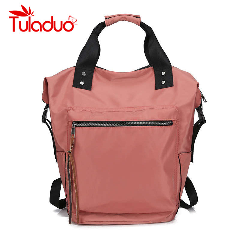 Nylon Backpack Women Backpacks Ladies High Capacity Back Waterproof School Bag for drop ship